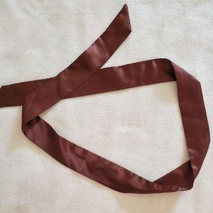 Brown silk sash